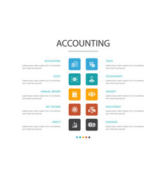 Accounting infographic 10 option conceptasset vector