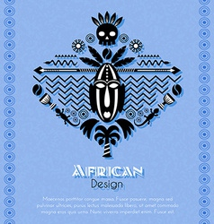 African Tribal Ethnic Art Background vector image