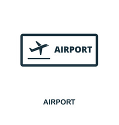 airport icon monochrome style design from city vector image