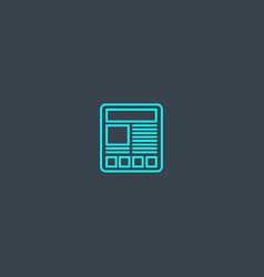article concept blue line icon simple thin vector image