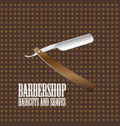 barbershop logo image design template vector image