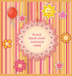 batoy lacy frame greeting card decor kids vector image