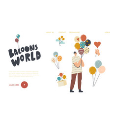 Birthday celebration or entertainment landing page vector