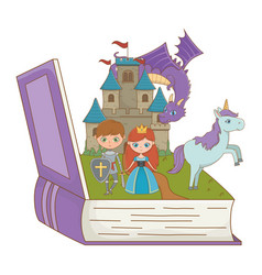 book and character fairytale design vector image