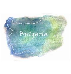 Bulgaria watercolor map vector image