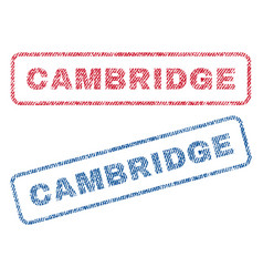 Cambridge textile stamps vector