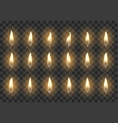 candle animation frames vector image