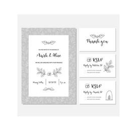 christmas wedding invitation card vector image
