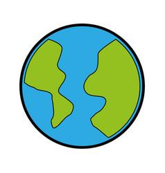 color world cartoon vector image