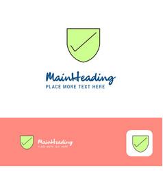 Creative sheild logo design flat color logo place vector