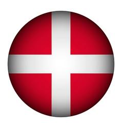 Denmark flag button vector