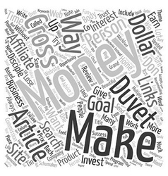 Does Money Make Money text background wordcloud vector