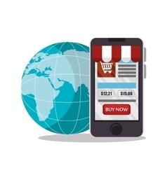E-commerce smartphone shop online design vector