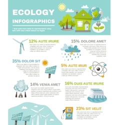 Eco Energy Infographics vector