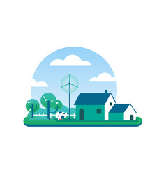 Eco friendly farm concept for clean environment vector