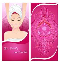 Face massage flyer vector