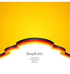 Flag background germany vector