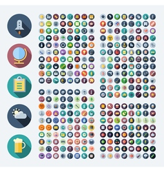 Flat design icons for business and technology vector image