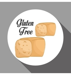 Flat of gluten free design vector image