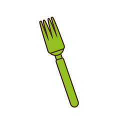 fork cutlery kitchen cooking image vector image