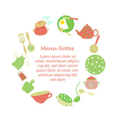 frame for kitchen household notes vector image