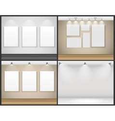 Frame on Wall for Your Text and Images vector