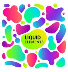 gradient fluid shapes set vector image