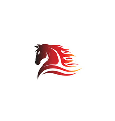 horse red logo vector image