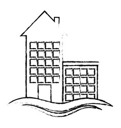 House emblem icon vector
