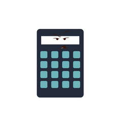 kawaii calculator business equipment cartoon vector image