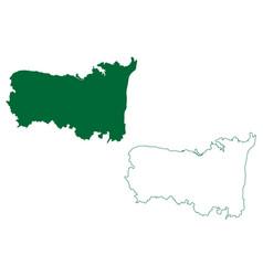 Kurnool district andhra pradesh state republic vector