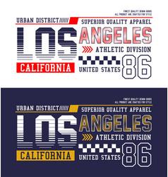 los angeles california typography design vector image