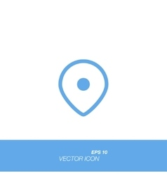 Map pointer icon in flat style isolated on white vector