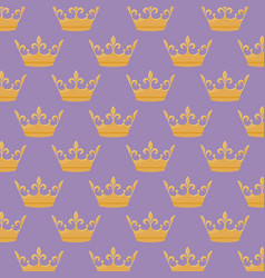 monarchical crown icon pattern vector image