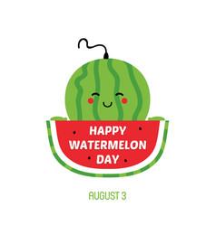 National watermelon day card vector