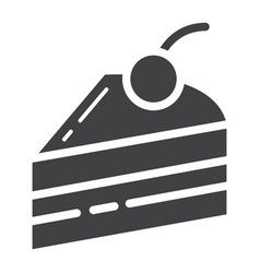piece of cake glyph icon food and drink vector image vector image