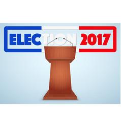 podium tribune with french election symbol vector image