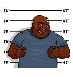 Police shot of a hardened criminal vector