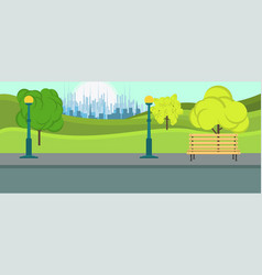 public park city leisure season environment vector image