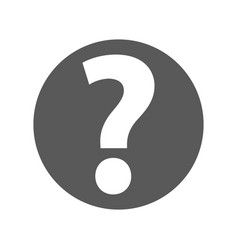 question mark sign icon simple vector image