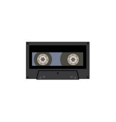 retro audio or video cassette cartoon icon flat vector image