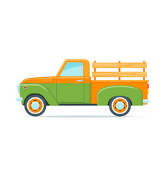 retro farmer pickup truck vector image