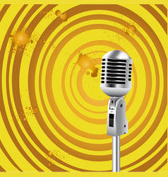 Retro microphone old style background vector