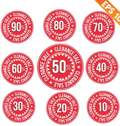 Sale discount tag - - EPS10 vector image