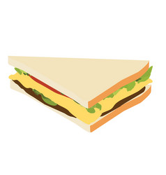 Sandwich isometric view vector