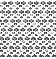 seamless halloween pattern with carved pumpkin vector image