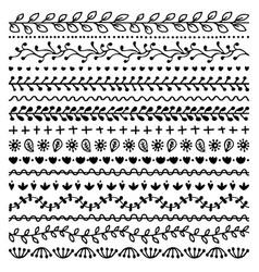Set hand drawn borders for bullet journal vector