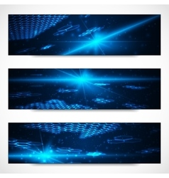 Set of bright digital banners vector image