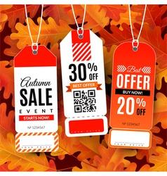 Set with sale labels Autumn sale event vector image