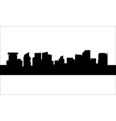 Silhouette of a litttle buildings vector